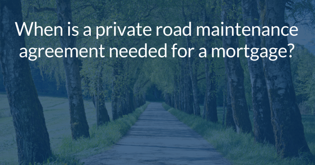 What are Private Road Mortgage Requirements in Florida?