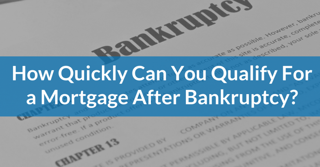 Qualify for a mortgage after bankruptcy in Tampa Florida
